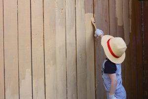 Painting Wooden Fences